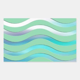 Digital Waves Image Sticker