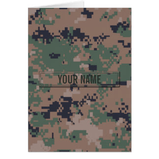 Digital Woodland Camouflage Customizable Greeting Card