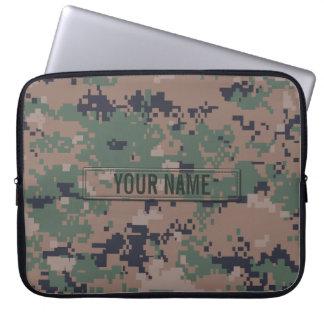 Digital Woodland Camouflage Customizable Laptop Sleeve