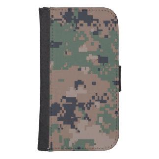 Digital Woodland Camouflage Phone Wallet Case
