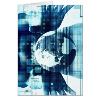 Digital World and Technology Lifestyle Industry Card