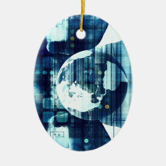 Digital World and Technology Lifestyle Industry Ceramic Ornament