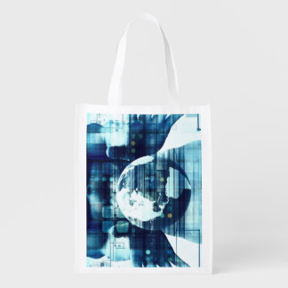 Digital World and Technology Lifestyle Industry Reusable Grocery Bag