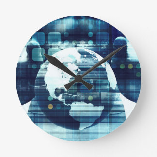 Digital World and Technology Lifestyle Industry Round Clock