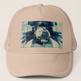 Digital World and Technology Lifestyle Industry Trucker Hat