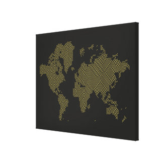 Digital World Map Canvas Print