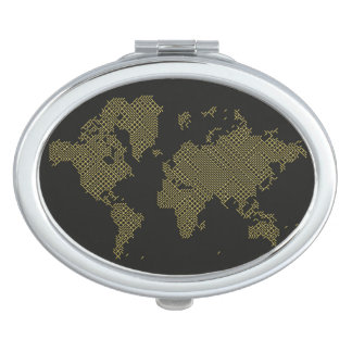 Digital World Map Mirror For Makeup