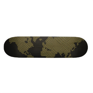 Digital World Map Skateboards