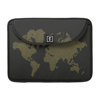 Digital World Map Sleeve For MacBook Pro