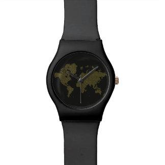 Digital World Map Watch