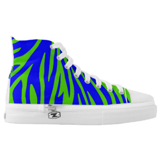 Digital Zebra Blue Green
