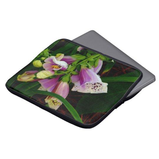Digitalis Purpurea Flowers Laptop Sleeve