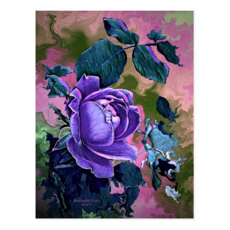 Digitally Created Postcard by Artful Oasis - Rose