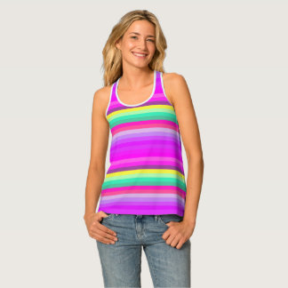 Digitally Dyed and Painted All-Over Tank Top