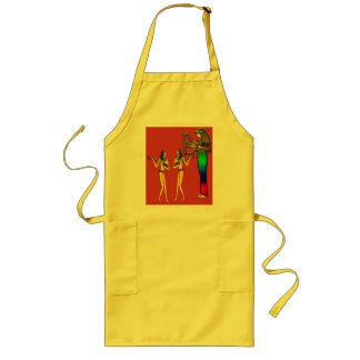 Digitally Painted; Early Egyptian two Photo Scu... Long Apron