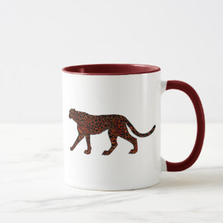 Digitally Painted Leopard Art Mug