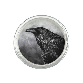 Digitally Painted Raven Ring by Artful Oasis