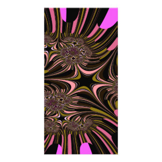 Digitally rendered  fractal features and abstract photo greeting card