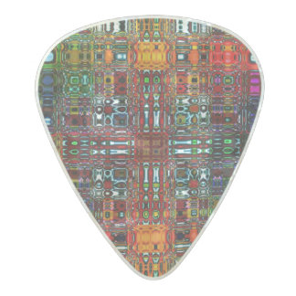 Digits Multi Color Design Pearl Celluloid Guitar Pick