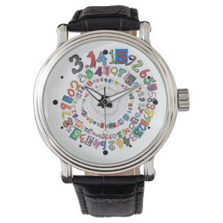 Digits of Pi Form a Colorful Spiral Wristwatches