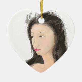 Dignified [japanese kanji] ceramic ornament