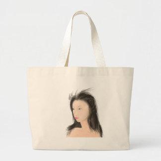 Dignified [japanese kanji] large tote bag