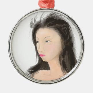 Dignified [japanese kanji] metal ornament