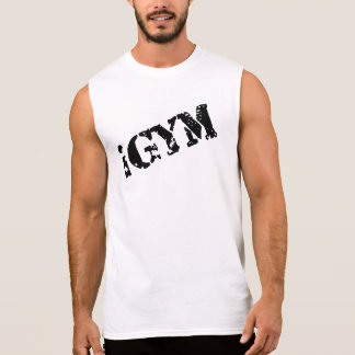 d'iGym des hommes T-shirt sans manche du coton