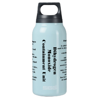 Dihydrogen monoxide insulated water bottle