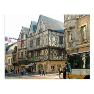 Dijon, Burgundy, France, medieval buildings Postcard