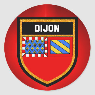Dijon Flag Classic Round Sticker
