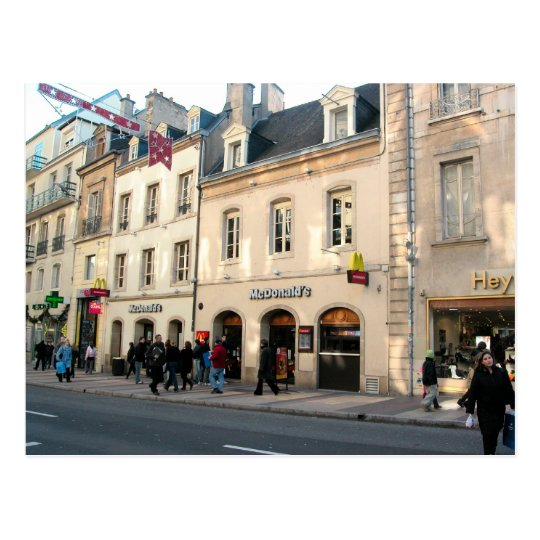 Dijon,  Medieval building used for fast food Postcard