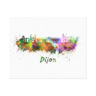 Dijon skyline in watercolor canvas print