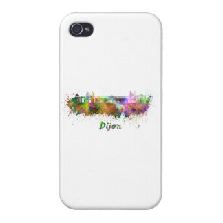 Dijon skyline in watercolor cover for iPhone 4