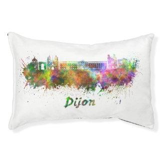 Dijon skyline in watercolor pet bed
