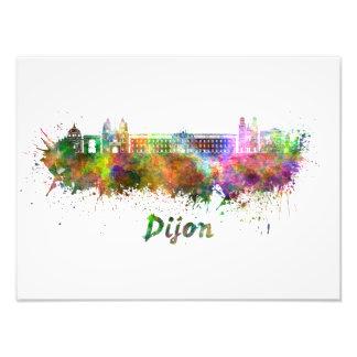 Dijon skyline in watercolor photo print