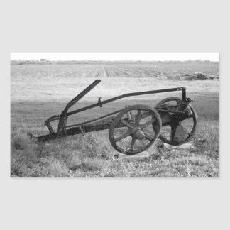 Dilapidated Vintage Farm Equipment Sticker