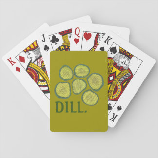 DILL (Deal) Pickle Chips Green Kosher Pickles Playing Cards
