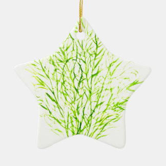 Dill herbs Dill watercolour Ceramic Star Ornament