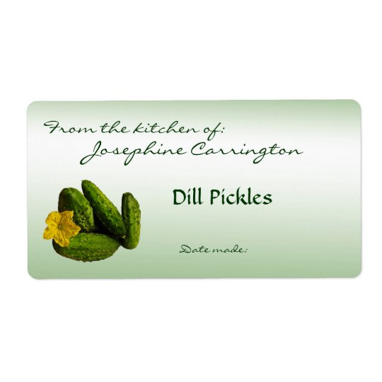 Dill Pickles Canning Labels