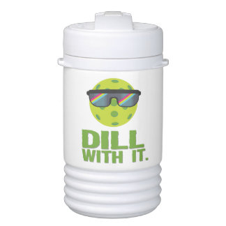 """Dill With It"" Pickleball Water Jug Cooler"
