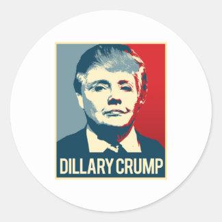 Dillary Crump Poster - -  Round Sticker