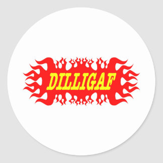 DILLIGAF Does It Look Like I Give A F Classic Round Sticker