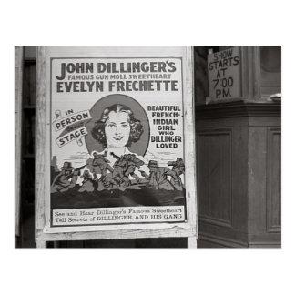 Dillinger's Gun Moll Sweetheart, 1938 Postcard
