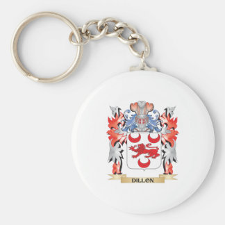 Dillon Coat of Arms - Family Crest Basic Round Button Keychain