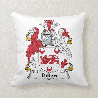 Dillon Family Crest Throw Pillow