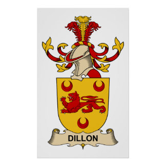 Dillon Family Crests Poster