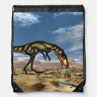 Dilong dinosaur - 3D render Drawstring Bag