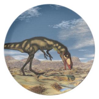 Dilong dinosaur - 3D render Plate