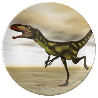 Dilong dinosaur - 3D render Porcelain Plate